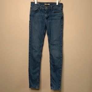 Levi's 710 Super Skinny Jean Womens 29 Medium Wash
